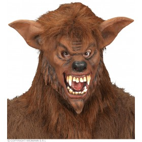 Werewolf Masks With Plush Fur - Fancy Dress (Animals)