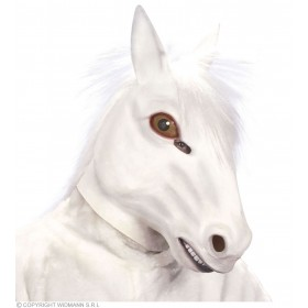 White Horse Plush Mask - Fancy Dress (Animals)