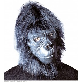Gorilla Mask With Plush Hair - Fancy Dress (Animals)
