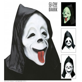 Gid Hooded Funny Ghost Mask - Fancy Dress (Halloween)