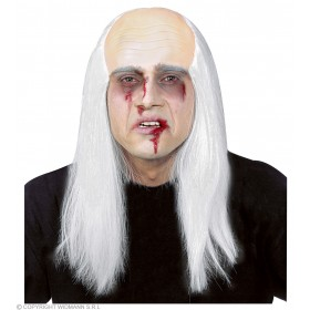 Zombie Bald Head With Hair - Fancy Dress (Halloween)