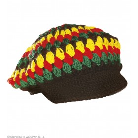 Crochet Reggae/Rasta Hat - Fancy Dress