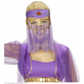 Harem Head Dress W/Veil - Fancy Dress