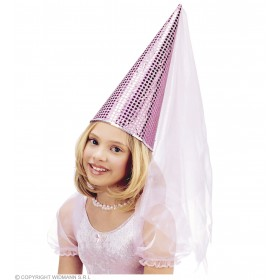 Fairy Hat Sequin Blue/Pink - Fancy Dress (Fairy Tales)