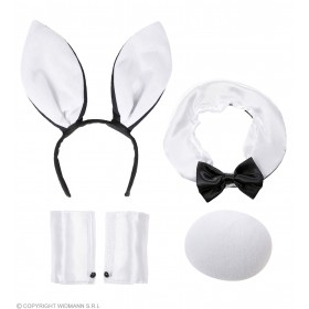 Bunny Sets Ears, Collar & Bow Tie, Tail,, Fancy Dress
