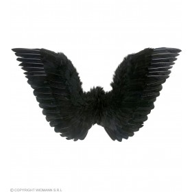 Black Feathered Wings 86X31Cm - Fancy Dress