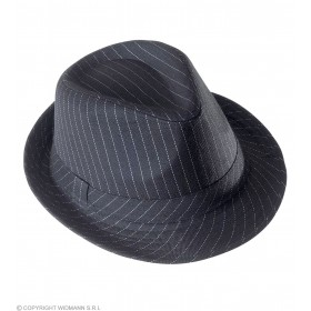 Gangster Hat Striped - Fancy Dress