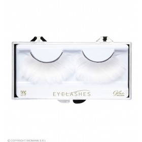 White Feather Eyelashes (Glass Bottle Glue) Eyelashes - (White)