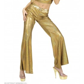 Woman Size Gold Holographic Sequin Pants - Fancy Dress