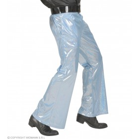 Holographic Sequin Pants - Blue - Fancy Dress