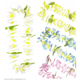 Honolulu Hawaiian Leis (Blue/Pink/White/Yellow) Accessories