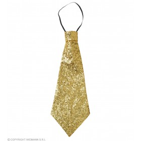 Lurex Tie W/Elastic - Gold Accessories - (Gold)