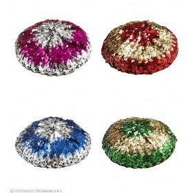Sequin Basco Hat - 2 Tone (Blue/Pink/Green/Red) Hats