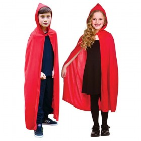 Childs Long Hooded Cape - RED Accessories