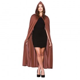Adult Hooded Cape 132cm - BROWN Accessories
