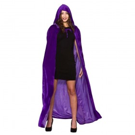 Deluxe Velvet Hooded Cape  Adult - PURPLE Accessories