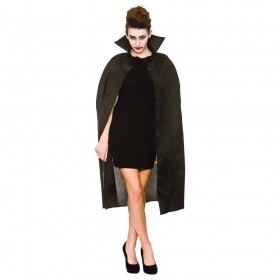 "Cape with Collar 42"" - BLACK Adult Accessories"