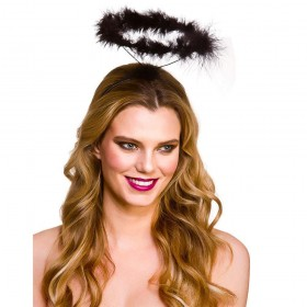 Feather Halo - Black Halloween Head Wear