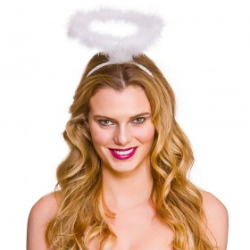 Feather Halo - White Christmas Head Wear