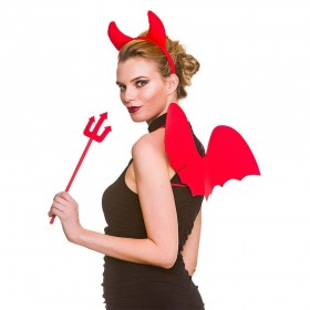Devil Set 3pc Halloween Head Wear
