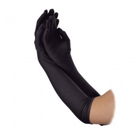 Ladies Long Gloves 43cm BLACK Gloves