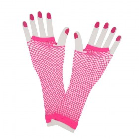 80's Net Gloves - Long - NEON PINK Gloves (1980)