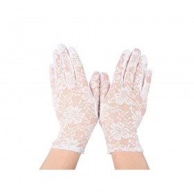 Ladies Lace Gloves - White Gloves