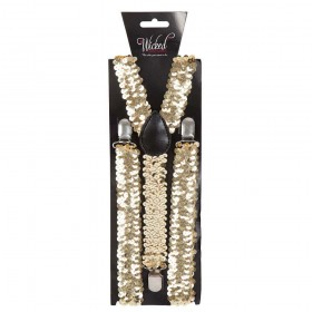 Adult Braces - GOLD SEQUIN Accessories