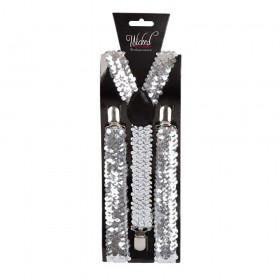 Adult Braces - SILVER SEQUIN Accessories