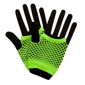 80's Net Gloves - Neon GREEN Gloves (1980)