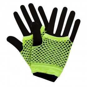 80's Net Gloves - Neon YELLOW Gloves (1980)