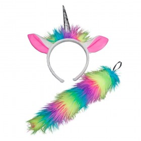 Ears & Tails - Rainbow Unicorn Animal Accessories