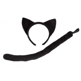 Ears and Tail - Black Cat Animal Accessories
