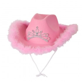Pink Cowgirl Hat w/ Marabou Feather Hats