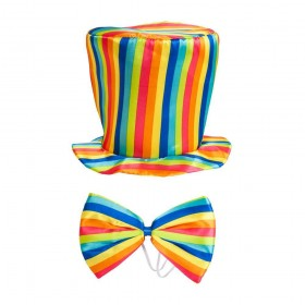 Rainbow Top Hat & Bow Tie Hats