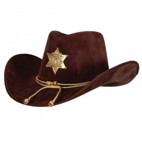 Deluxe Suede Sheriff Police Hat