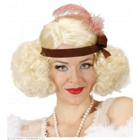 Ladies Blonde Burlesque Wig W/ Headband Wigs - (Blond)