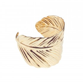 Roman Leaf Gold Bangle