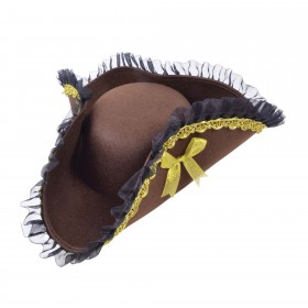 Tricorn Hat Brown (Pirate Lady)
