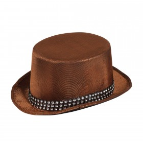 Top Hat Brown Metallic Look with Band