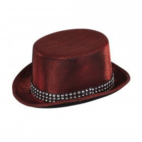 Top Hat Red Metallic Look with Band