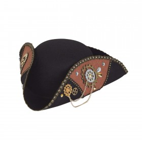 Steampunk Tricorn Hat Male