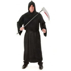 Horror Robe. Black (Halloween Fancy Dress)