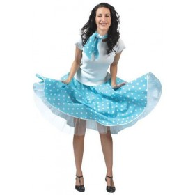 Rock 'N'Roll Skirt Blue (1950S Fancy Dress)