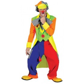 Clown Coat + Trousers Fancy Dress Costume