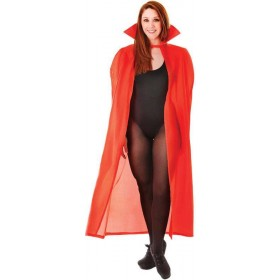 "56"" Nylon Dracula Cape. Red (Halloween Fancy Dress)"