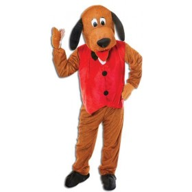 Dog With Waistcoat. Big Head Fancy Dress Costume