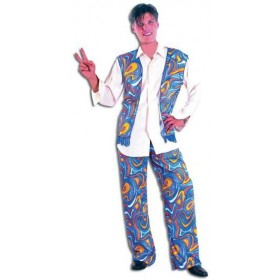 Flower Power Hippy Man Fancy Dress Costume
