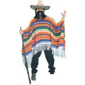 Mexican Poncho. Packaged (Cultures , Cowboys/Indians Fancy Dress)