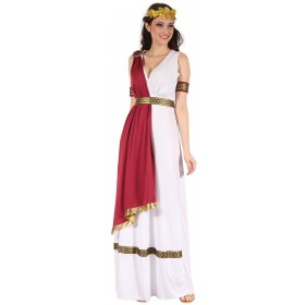 Ladies White Ancient Greek/Roman God Fancy Dress Costume